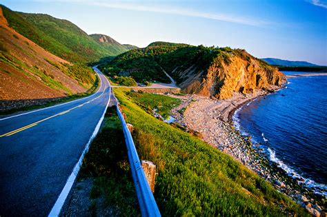 cabot trail cape breton island nova scotia canada