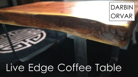 how to make a live edge table making a live edge coffee table w metal base darbin orvar
