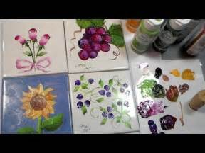 Painting Ceramic Tile with Acrylic Paint
