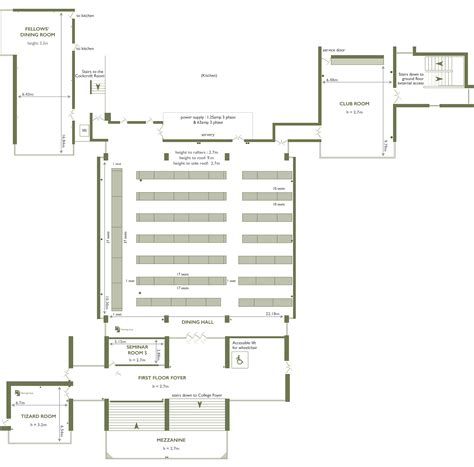 Dining Room Floor Plans by Dining Churchill College