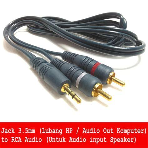 Harga Rca Stereo jual kabel 3 5mm to rca stereo audio untuk dari hp ke