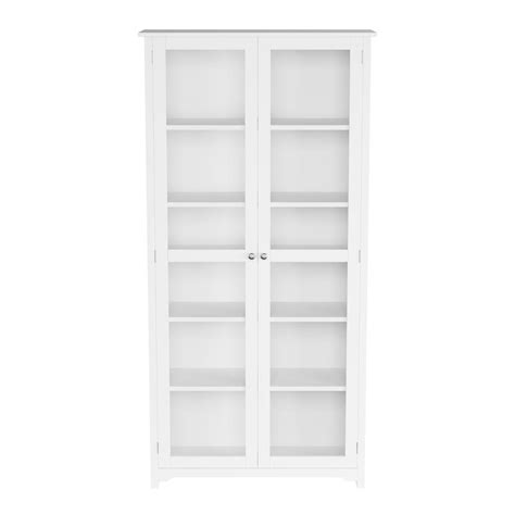 White Bookcases With Glass Doors home decorators collection oxford white glass door