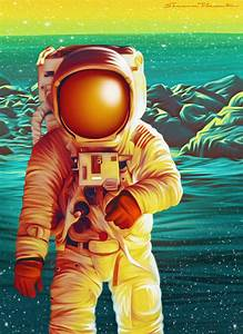 Space Man / Astronaut Illustration - 2013 on Behance