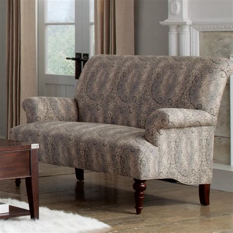 Settee With Arms by Traditional Settee With Rolled Arms And Turned Wood Legs