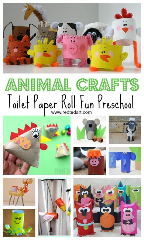 toilet paper roll animal crafts for preschool ted 826 | Toilet Paper Roll Animals 2