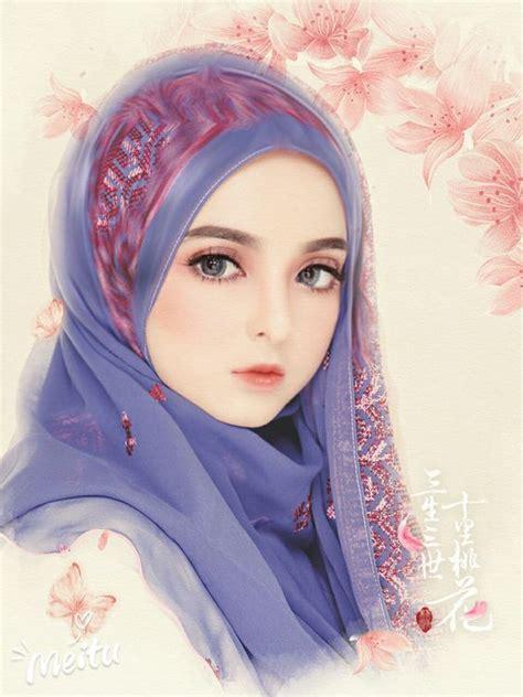 gambar kartun muslimah tercantik  manis hd kuliah desain