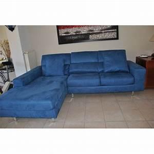Canapé Bleu Convertible : canape d 39 angle convertible couleur bleu electrique achat et vente ~ Teatrodelosmanantiales.com Idées de Décoration