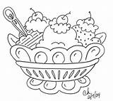 Ice Cream Coloring Printable Sheets Pages Sheet Forkids Bowl sketch template