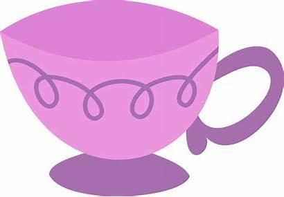 Cup Tea Transparent Clipart Teacup Clip Purple