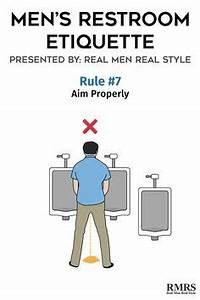 men39s restroom etiquette infographic With male bathroom etiquette