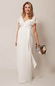 hannah maternity wedding gown long ivory maternity With robe longue de grossesse