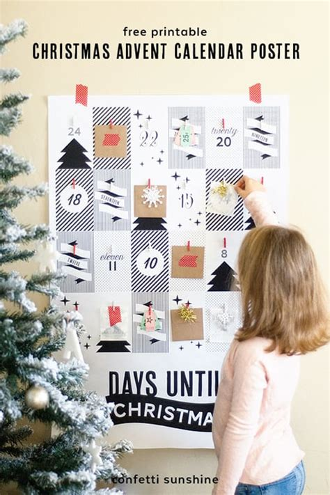 printable advent calendar poster