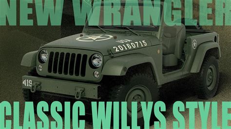 wrangler built    classic army willys jeep