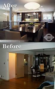The basement stairs used to block the kitchen from the