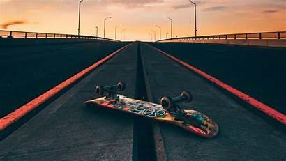 Skateboard Road Sky Skate Skateboarding Background Wallpapers