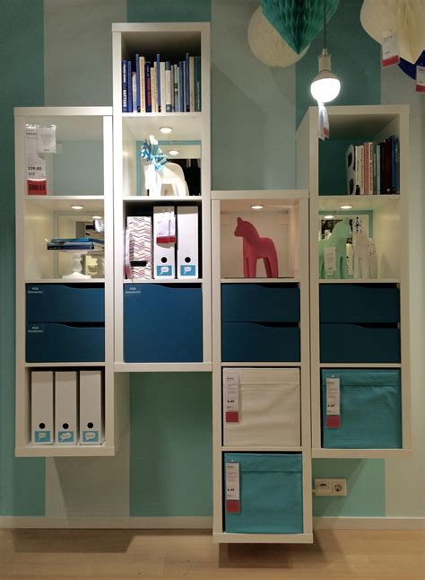Ikea Kallax Ideen by With A Of Kallax Cabinets On Different Height Next
