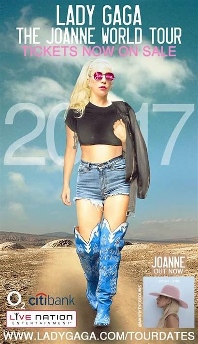 Joanne Tour Gaga Feel Poster Around