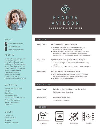12036 modern resume exles brown and turquoise modern resume templates by canva