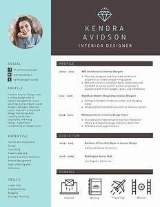 Brown and Turquoise Modern Resume Templates by Canva