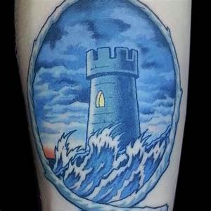 Lighthouse tattoo (2) - watercolor arm tattoo on ...