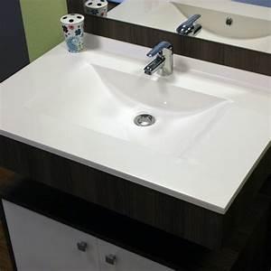 plan vasque simple en resine de salle de bain With porte d entrée alu avec meuble salle de bain 80 cm sans vasque