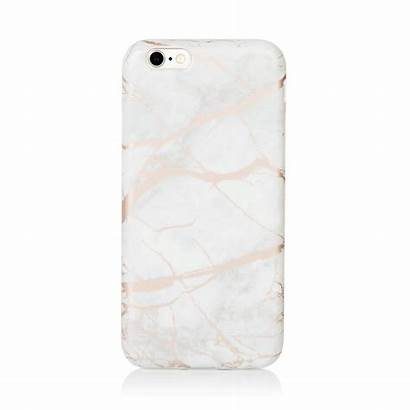 Chrome Phone Case Marble Metallic Soft Coconut