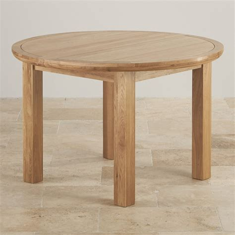 Knightsbridge 4ft Extending Round Dining Table In Natural Oak