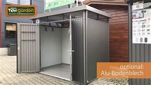 Gerätehaus Metall Flachdach : biohort metall ger tehaus highline auf youtube ~ Eleganceandgraceweddings.com Haus und Dekorationen