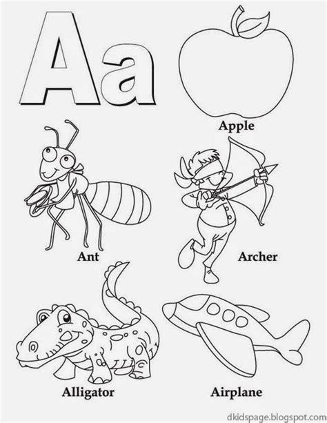 page letter a alphabet letters printable worksheet
