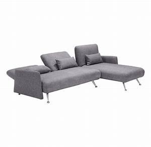 Zuo Modern Bizard Sofa Lit Sectionnel Gris Cendres