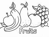 Coloring Pages Vegetables Fruit Fruits Fresh Colouring Printable Toddlers Vegetable раскраски для детей Activities sketch template