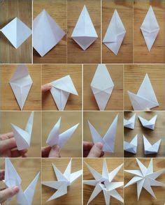 zackige origami sterne aus papier falten anleitung weihnachtsdeko basteln aus papier