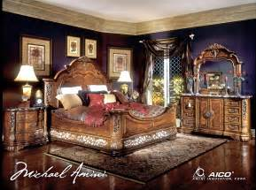 michael amini excelsior bedroom furniture fruitwood finish