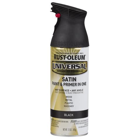 Rustoleum Universal 12 Oz All Surface Satin Black Spray