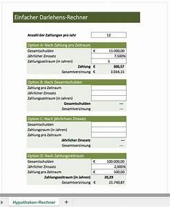 Lohnsteuerjahresausgleich Online Berechnen Kostenlos : zins rechner excel vorlagen f r jeden zweck ~ Themetempest.com Abrechnung