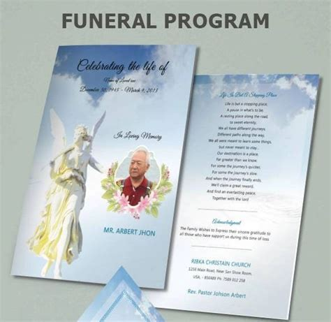 funeral program templates word psd google docs