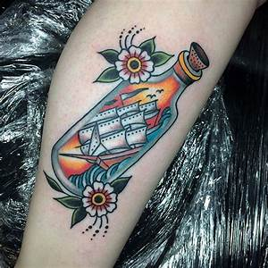 717 best In A Bottle Tattoos images on Pinterest | Tattoo ...