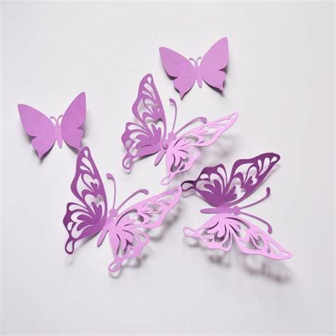 Nothing has to look perfect. Purple Butterfly Wall Decoration, 3D Paper Baby Shower ...