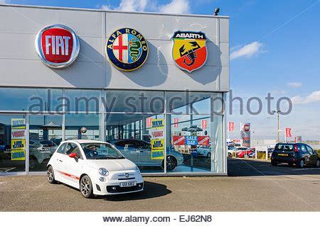 Fiat Car Dealership by A Fiat Car Dealership Stock Photo Royalty Free Image