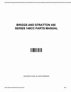 Briggs And Stratton 450 Series 148cc Parts Manual By C6002
