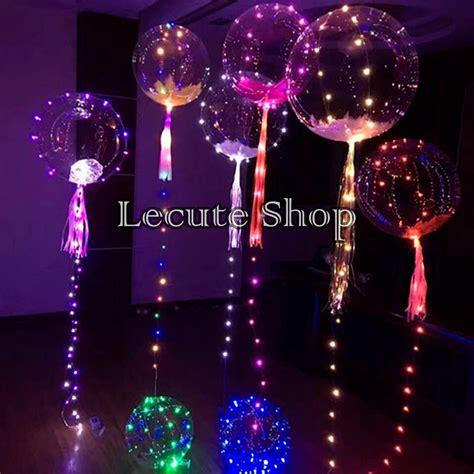 globos transparentes luz led  cm fiesta decoracion neon