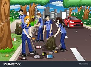 Top Animated People Cleaning The Environment Picture Cdr