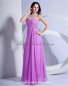 ruffle bridesmaid dress allens bridal chiffon sweetheart floor length column bridesmaid dress with ruffle