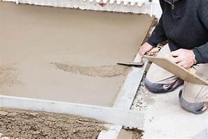 Chape de beton ou de ciment prix moyen au m2 pour sa for Chape de beton interieur