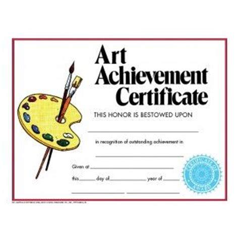 art award certificates images  pinterest award