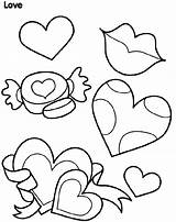 Coloring Crayola Pages Hearts Kisses Heart Valentine Sheets Printable Valentines Hart Print sketch template