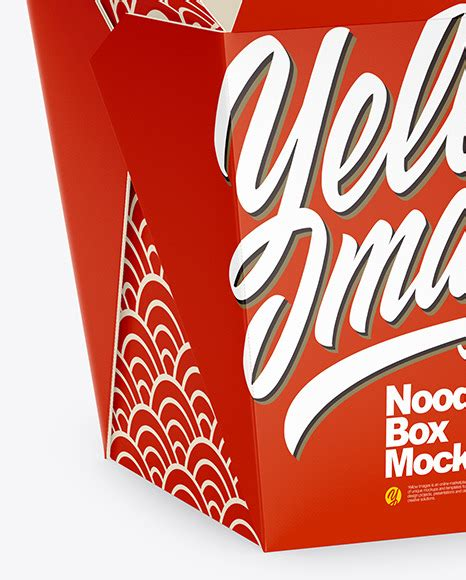 Two matte paint buckets mockup in bucket & pail mockups on yellow images object mockups. Opened Matte Paper Noodles Box Mockup - Half Side View in ...