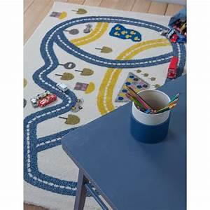 Tapis Chambre Bébé Garçon : tapis circuit bleu pour chambre gar on par art for kids ~ Dallasstarsshop.com Idées de Décoration