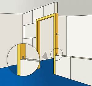 poser un bloc porte en montant une cloison en carreaux de With changer un bati de porte