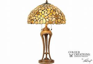 Shoreline Tiffany Style Lamp - Table lamps (Beige) White